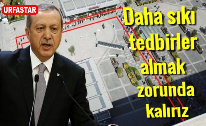 Erdoğan, bu görüntüden rahatsız oldu
