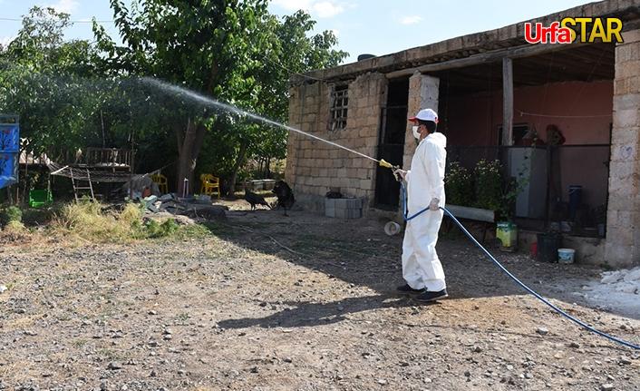 Hilvan'da karantina yerleri dezenfekte edildi