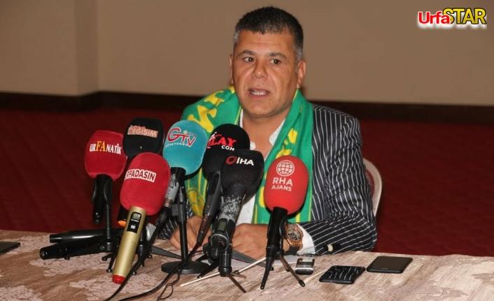 Şahin Urfaspor'a aday oldu