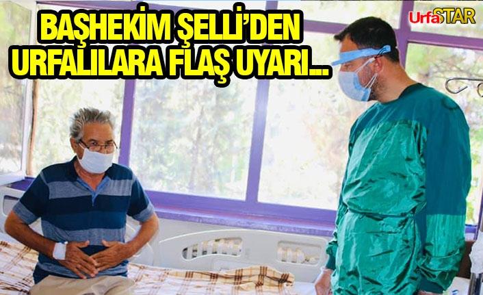 Başhekim korona virüs hastalarını ziyaret etti
