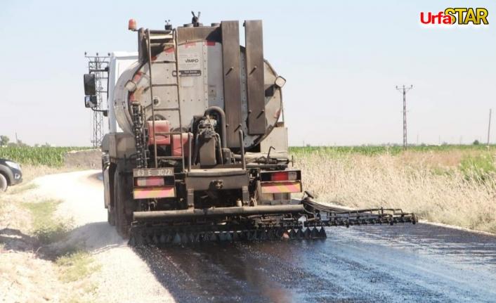 Harran'da yollar asfalta kavuşuyor