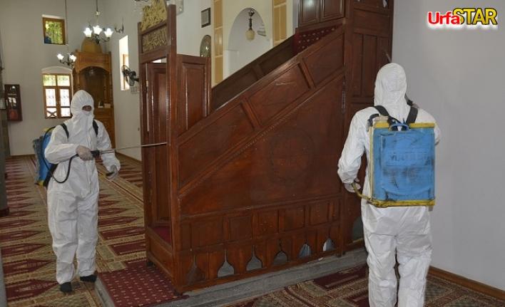 Siverek'te camiiler dezenfekte ediliyor