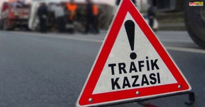 Viranşehir'de otomobil devrildi