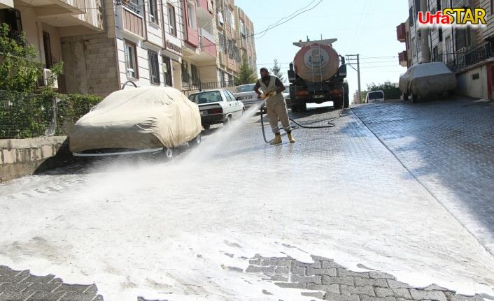 Haliliye Belediyesi dezenfekte çalışmalarını sürdürüyor
