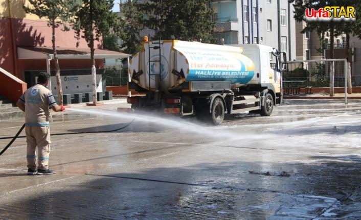 Haliliye'de okullar temizleniyor