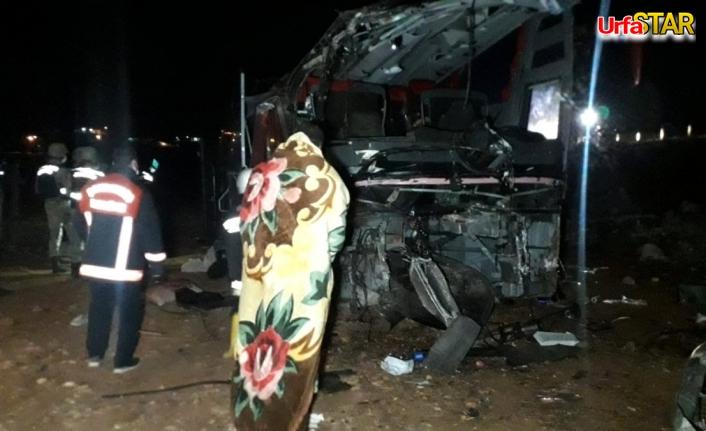 Urfa'da otobüs kontrolden çıkıp şarampole devrildi