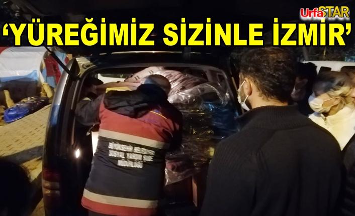 Urfa'dan yol çıkan Yardım Tır'ı İzmir'e ulaştı...