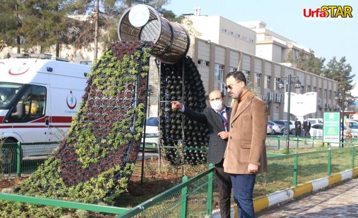 Balıklıgöl Devlet Hastanesi'ne çiçek şelalesi...