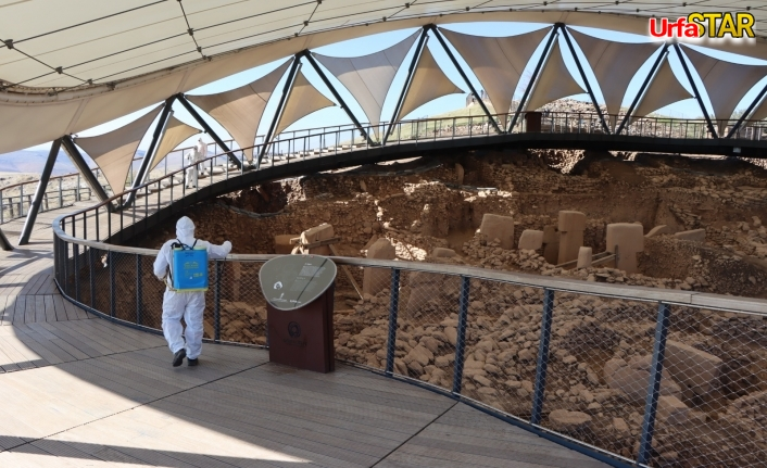 Tarihi mekanlar dezenfekte edildi