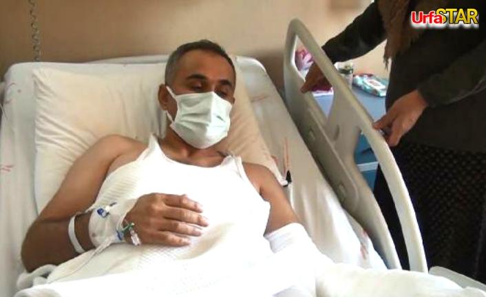 Urfa'da, eli kopan işçinin ameliyatı 7 saat sürdü