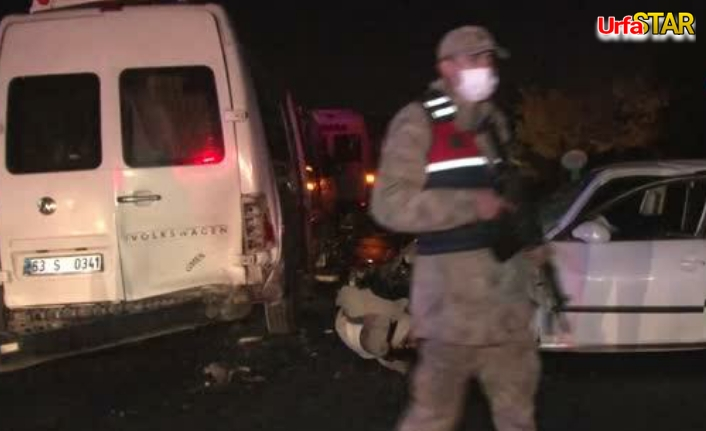 Urfa'da zincirleme kaza! 3 kişi yaralandı