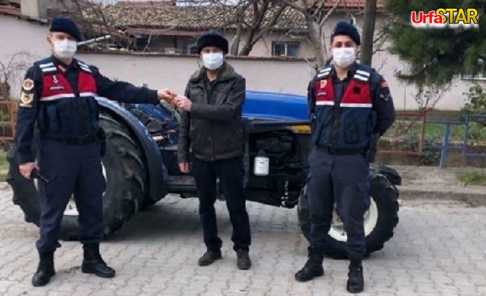 Manisa'da çalınan traktör Urfa'da bulundu