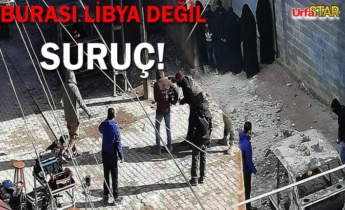 Urfa'da terör filmi çekiliyor