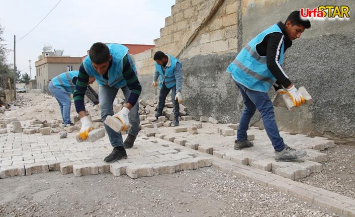 Haliliye'de 3 mahallede üst yapı çalışmaları sürüyor