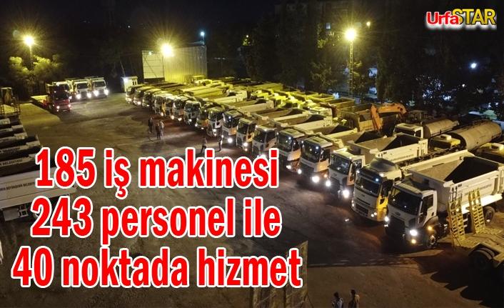 Urfa Büyükşehir çalışmalarını aralıksız sürdürüyor