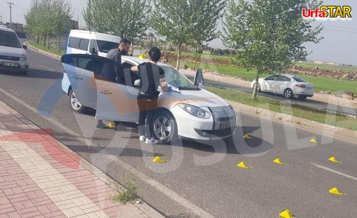 Viranşehir'de araç tarandı