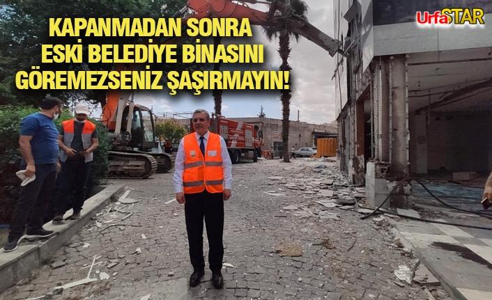 Belediye binası yıkılıyor
