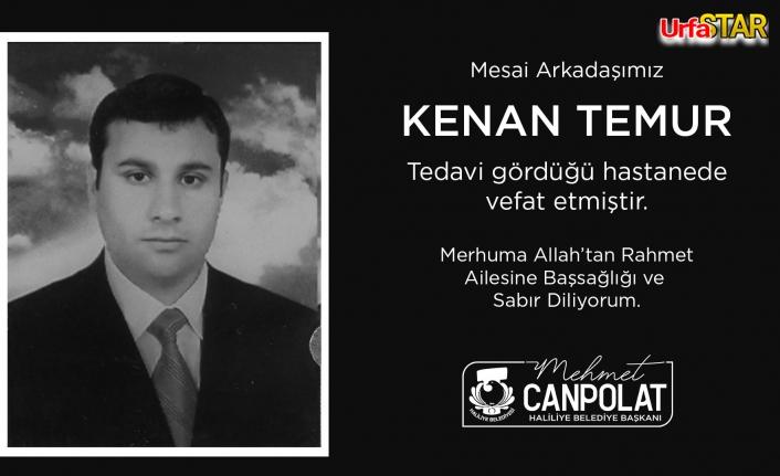 Haliliye Belediyesi personeli hayatını kaybetti