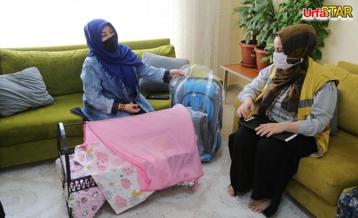 Haliliye'de dünyaya gelen bebeklere merhaba hediyesi...