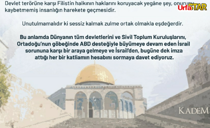 Kadem'den kınama...
