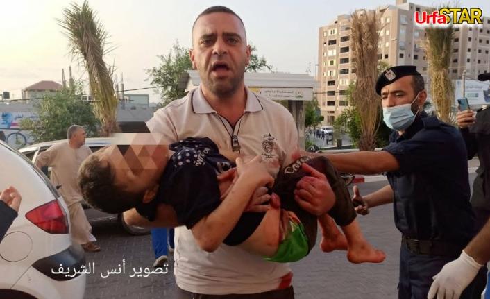 Katil İsrail savaş uçaklarıyla saldırdı