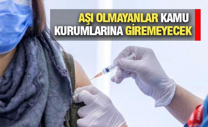 Aşı Olmayanlara Kısıtlama