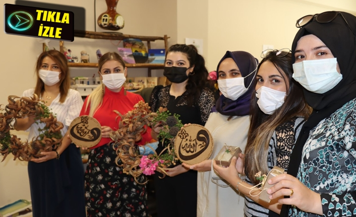 Büyükşehir'de kadınlar sanata yoğunlaşmaya başladı