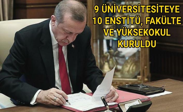 Erdoğan'ın imzaladığı karar resmi gazetede yayımlandı