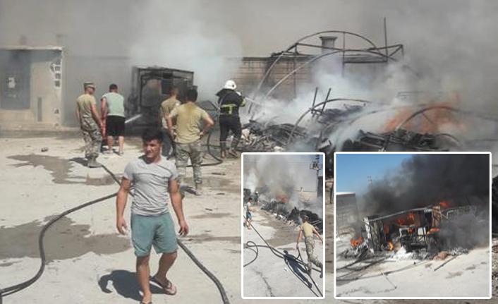 Akçakale'de ki çadır kentte yangın çıktı!