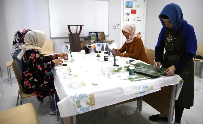 Haliliye'de kadınların yeni hobisi...