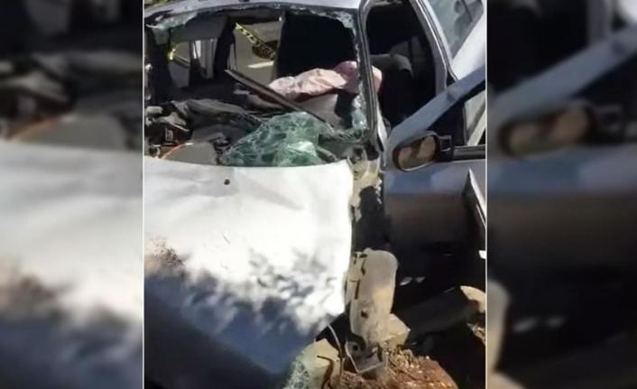 Urfa Diyarbakır yolunda feci kaza!