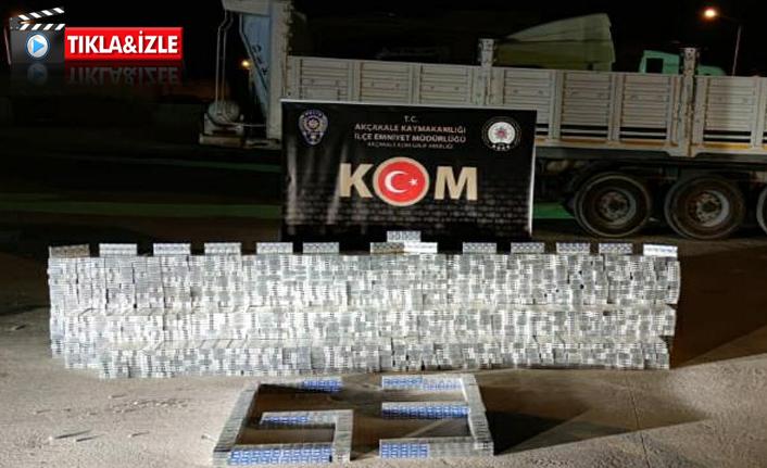 Suriye'den getirilen binlerce kaçak sigara ele geçirildi