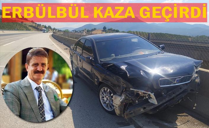 Urfalı gazeteci ailesiyle birlikte kaza geçirdi