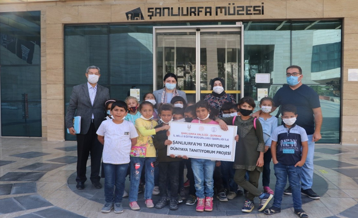 Urfa kırsalındaki çocuklar ilk kez müze gördü