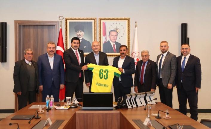 Urfaspor yönetimi Bakan Soylu ile görüştü