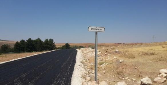 39 km köy yolları asfaltlanıyor...