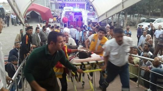 3 Yaralı Suruç'a getirildi