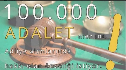 Adalet Mezunları 5 Bin kadro bekliyor