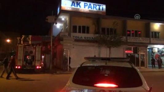 AK Parti binası az kalsın yanıyordu