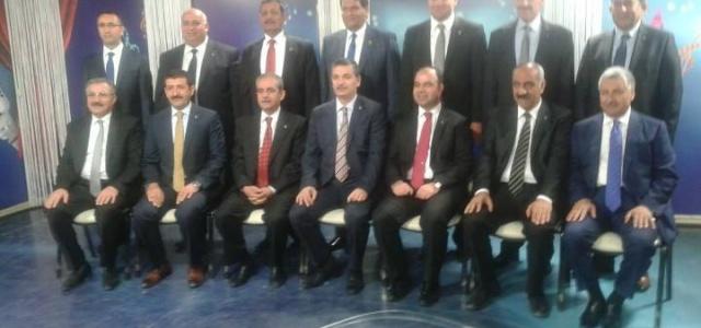 AK Partinin adayları stüdyoda...