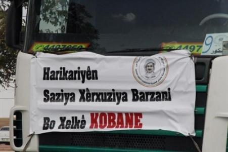 Barzani'den Kobani'ye 12 tır yardım