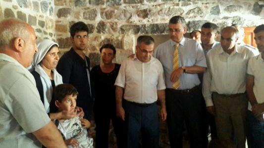 Başkan Güvenç'ten Ezidilere yardım eli