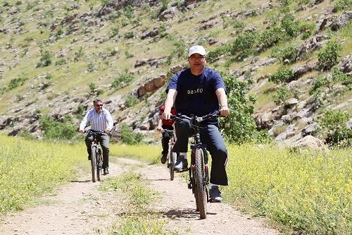 Bisiklet yarışı yaptılar