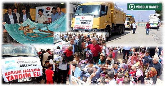 Ceylanpınar Belediyesi'nden Kobani'ye Yardım Eli