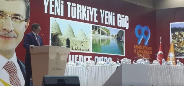 Davutoğlu, Şanlıurfa'da konuştu