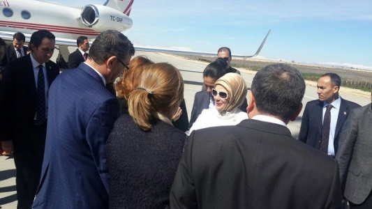 Erdoğan, Urfa'ya geldi