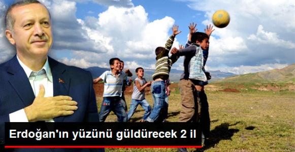 Erdoğan'ı sevindiren iki İl...