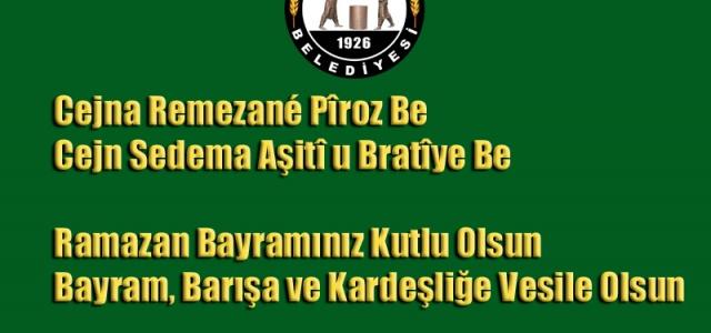 Hilvan Belediye Yönetiminden Kürtçe ve Türkçe Bayram Mesajı