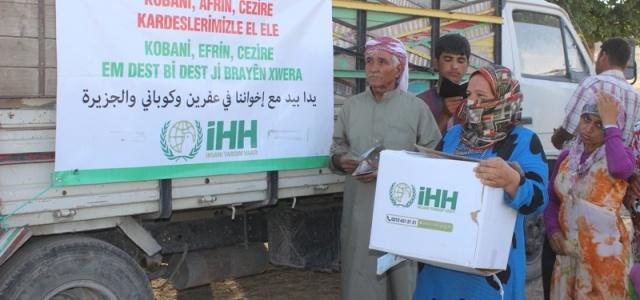 İHH yardımlarıyla Kobani halkının yüzü güldü