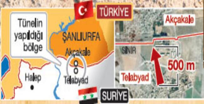 IŞİD'in 500 metrelik Türkiye tüneli bulundu